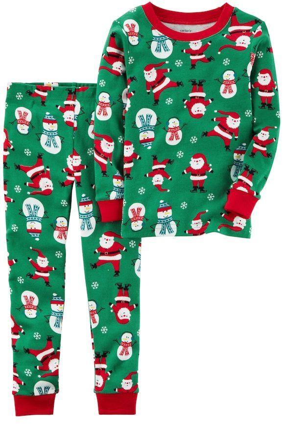 Carter\u0027s Baby Boy Carter\u0027s Santa  Snowman Top  Bottoms Christmas
