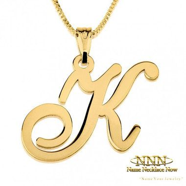 Wide collection of Initial Pendants. Order Online Now, Free Shipping!