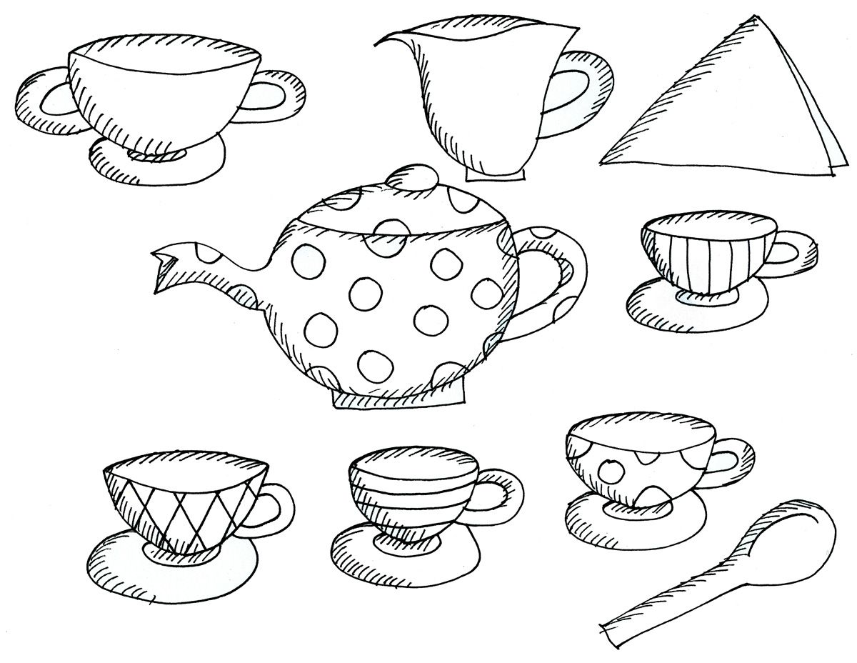 Alice In Wonderland Tea Party Coloring Pages – Sally Lee Books ...