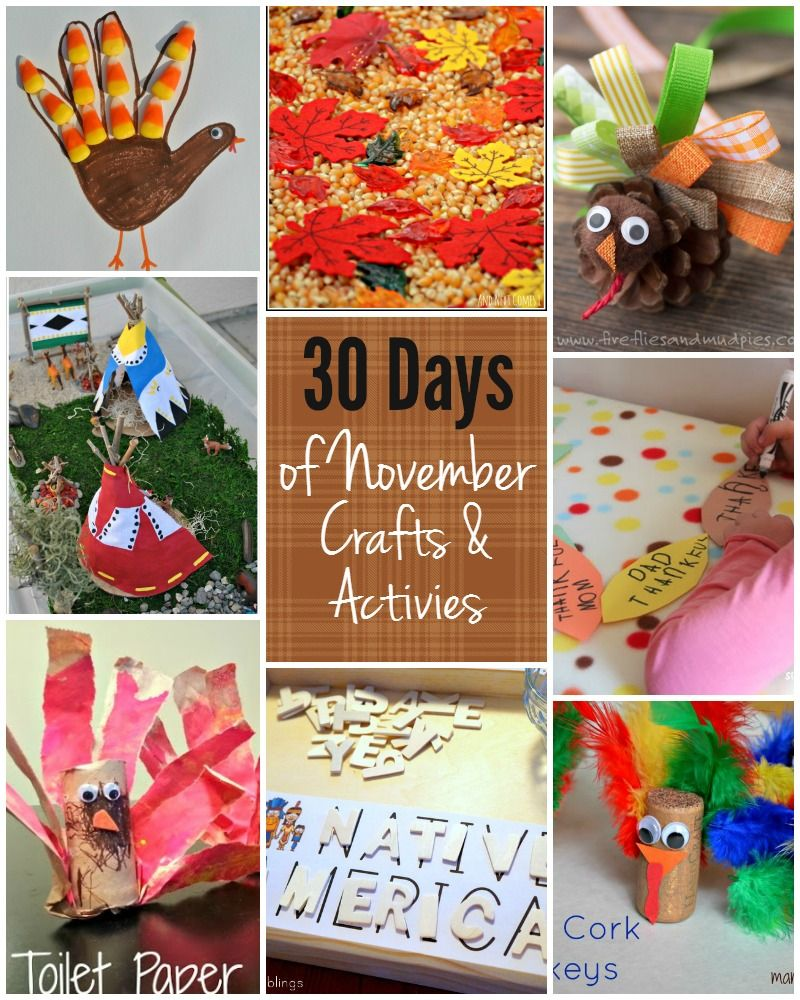Beautiful November Craft Ideas For Kids Part - 4: 30 Days Of Fun Kids Activities For November! Crafts And Learning For Kids!