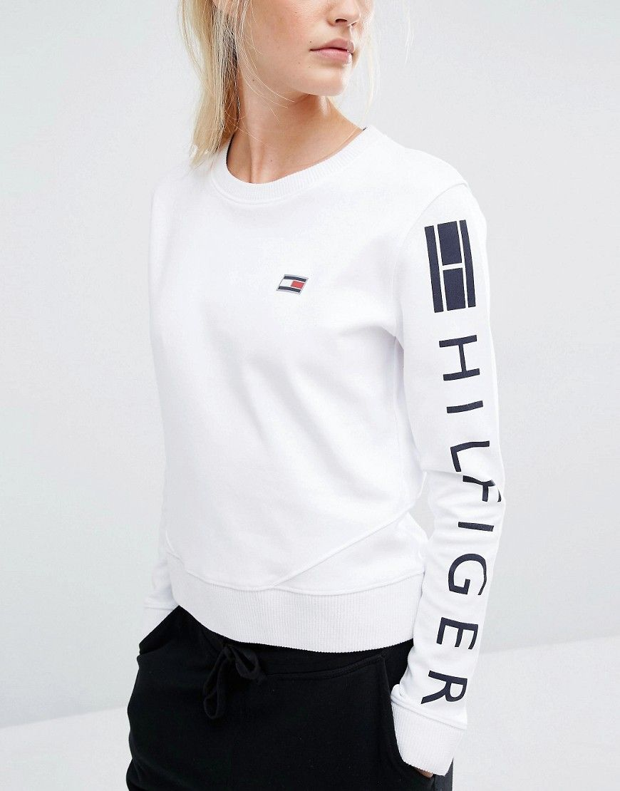 Tommy Hilfiger Contrast Sleeve Pullover Women