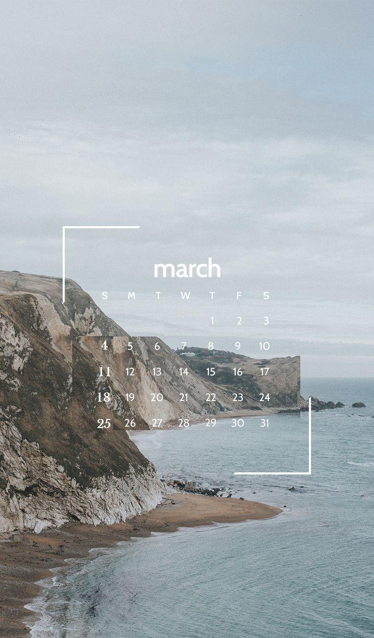 march 2018 iphone calendar wallpaper