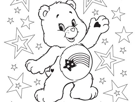 Free Printable Coloring Pages Teddy Bear : Happy 4th of july! free care bears patriotic printable coloring