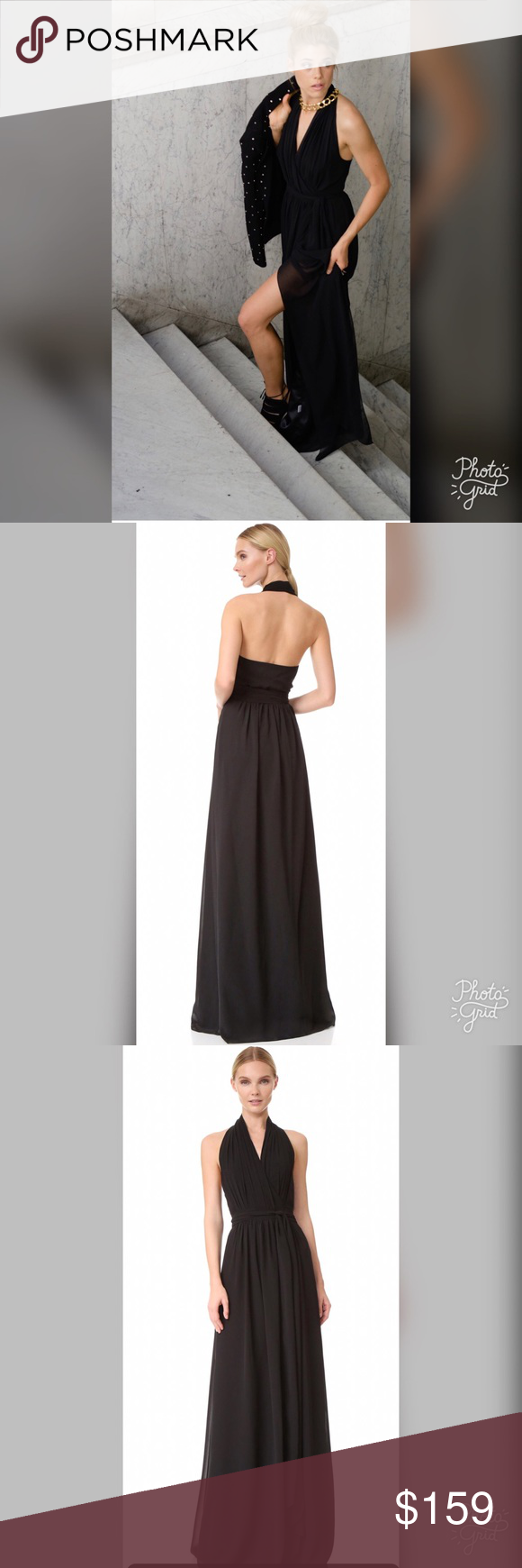 Ceremony by joanna august black wrap dress wrap dresses ethereal