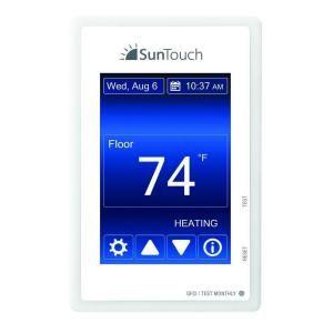 Suntouch Floor Warming Sunstat Command Programmable Radiant Floor Heating Thermostat 500850 Sc Floor Heating Thermostat Radiant Floor Heating Heating Thermostat