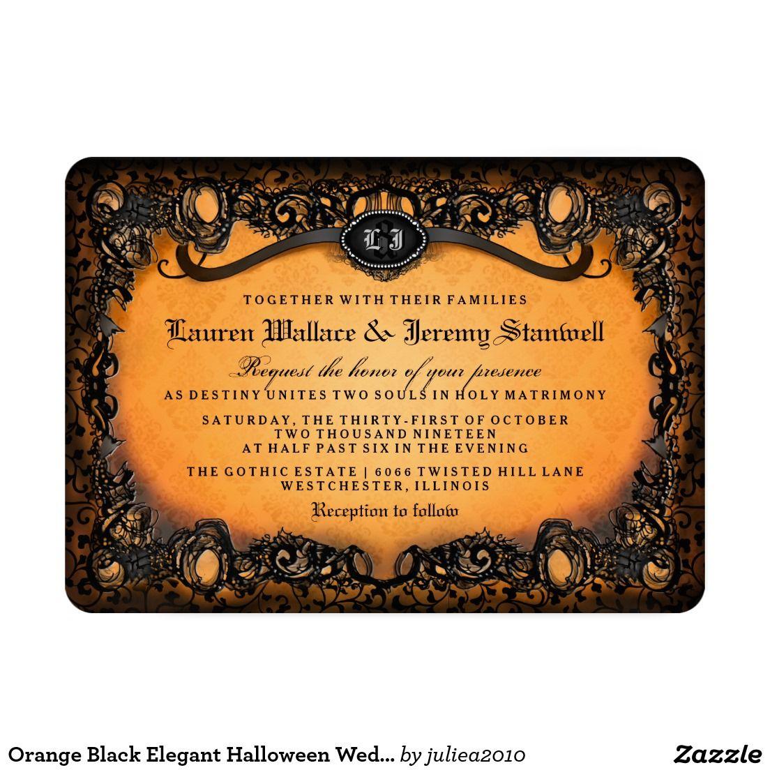 39+ Zazzle halloween wedding invitations info