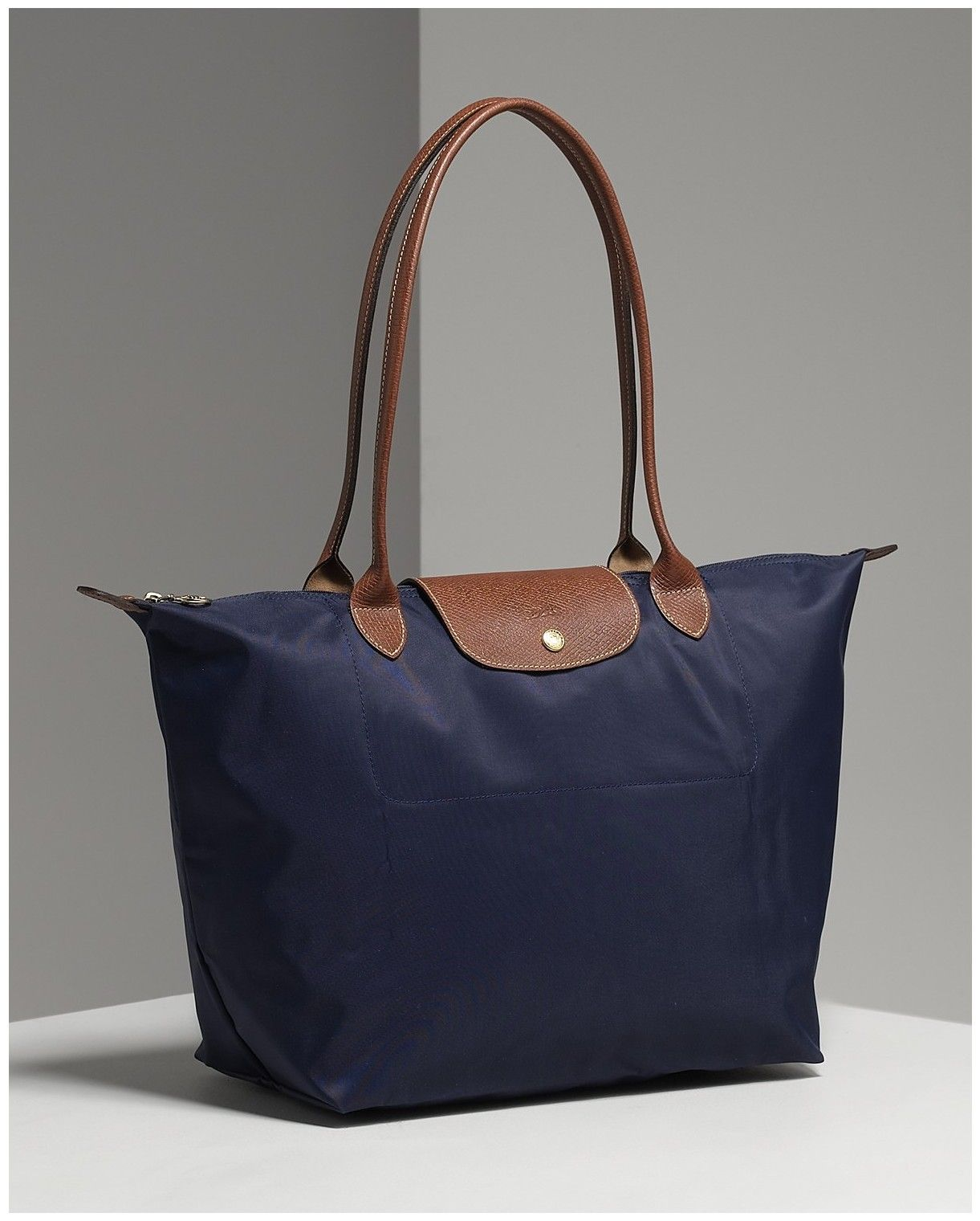 Longchamp Le Pliage In Navy Medium