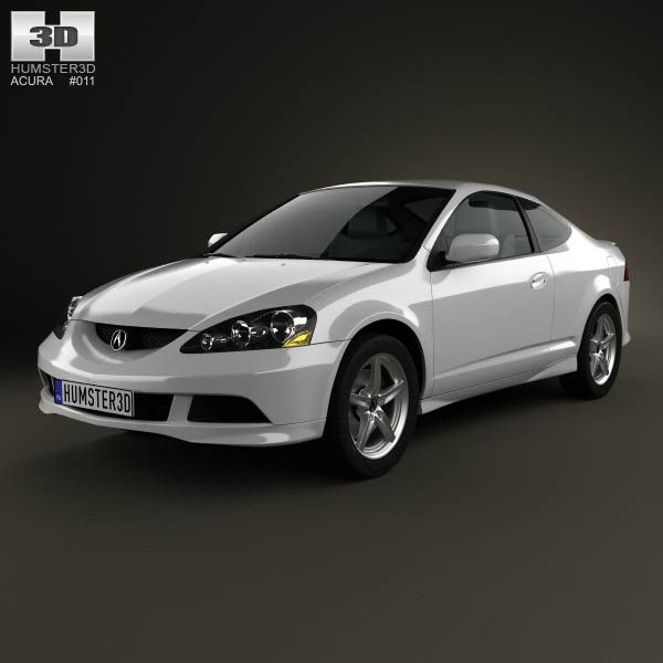 Acura RSX Type-S 2005 3d Model From Humster3d.com. Price