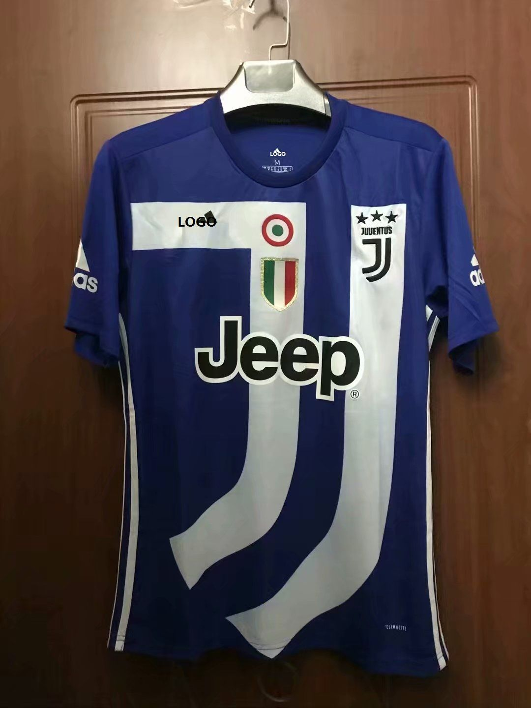 40103960b 18 19 Thailand Quality Adult Juventus Blue Soccer Jersey Men Football Kits  Top Shirt Commemorative Version
