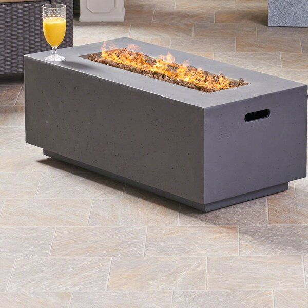 Photo of Caelan Outdoor MgO Concrete Propane Gas Fire Pit Table