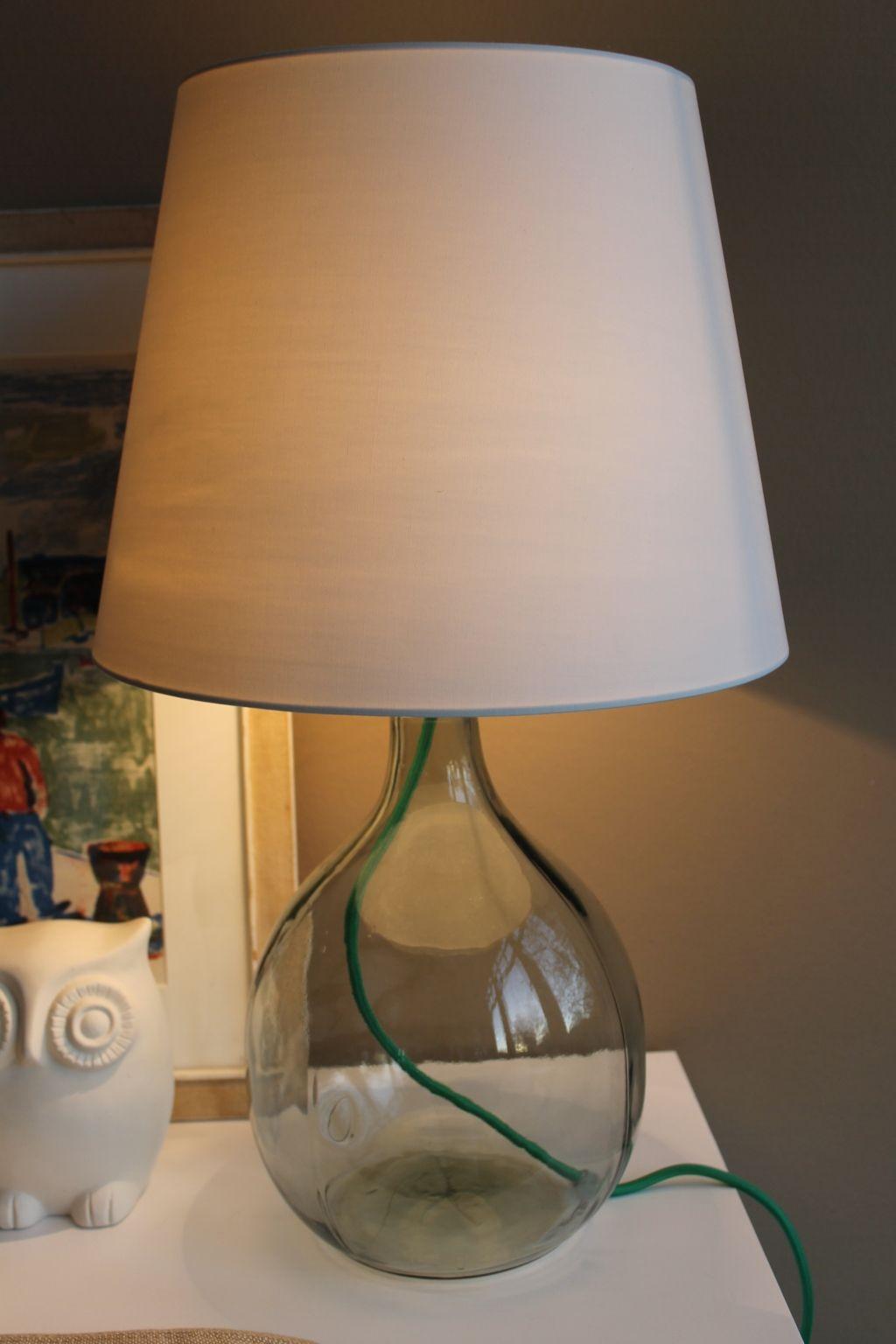 leuchte mit glasfu selber machen illumination. Black Bedroom Furniture Sets. Home Design Ideas
