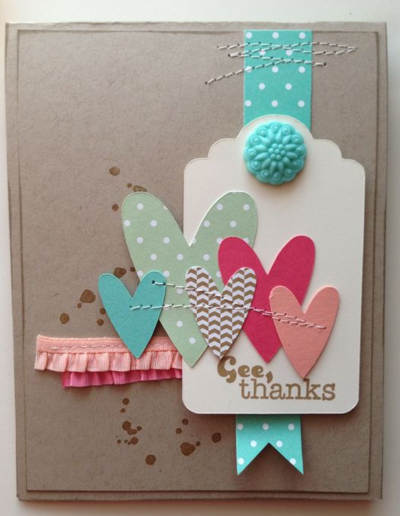 Hello New In Colours Valentines Cards Cards Handmade Simple Cards