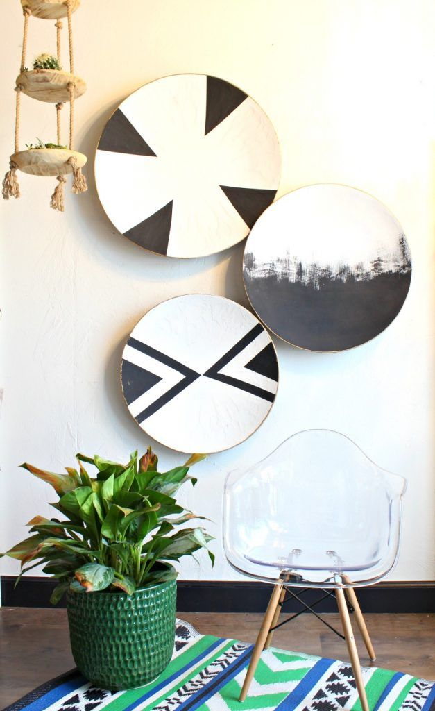 DIY Oversized Painted Plates   DIY Painting Projects By Refunk My Junk    Painted Home Decor