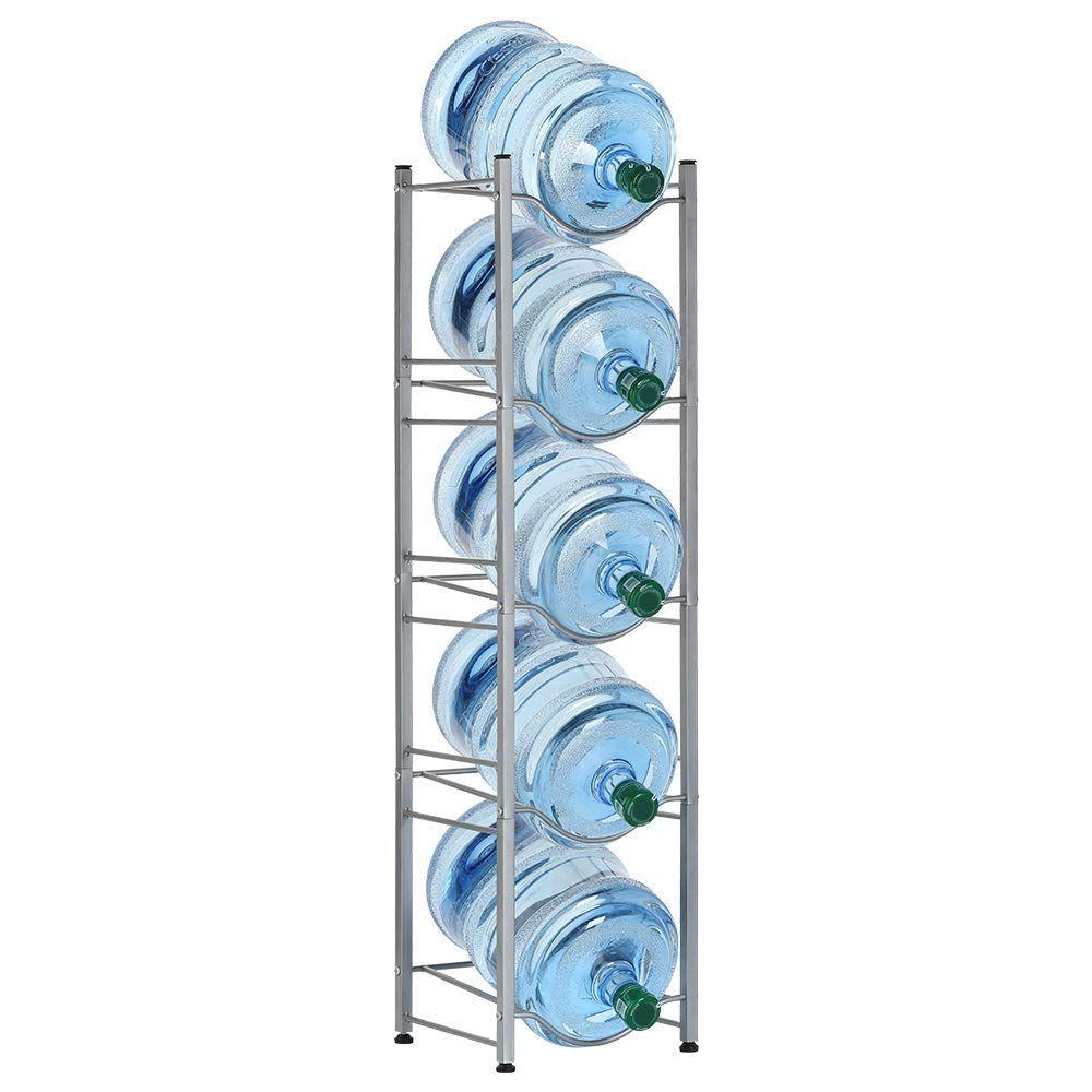 Garage 5 Tier Water Jug Holder Gallon Water Bottle Bottle Storage Rack Water Bottle Storage Rack