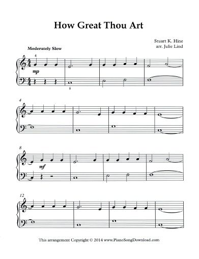 Get This Simplified Arrangement Of How Great Thou Art For Free