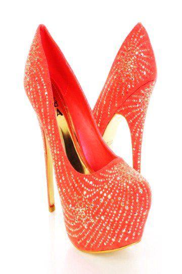 f54efc5fbc Bling Bling High Heel Shoes for Women - Red Crystal High Heel Shoes for  Women