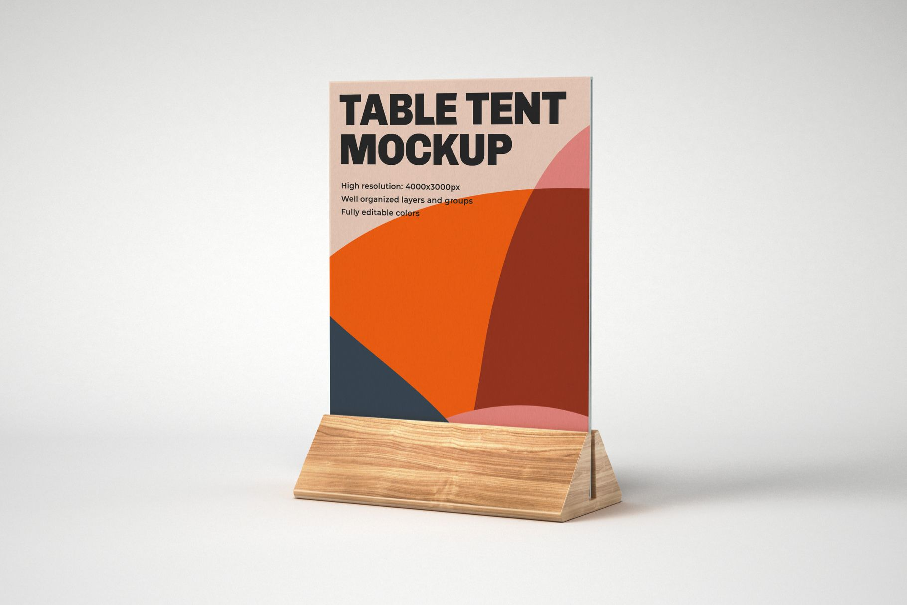 Table Tent And Sign Mockup Set Sign Mockup Table Tents Tent