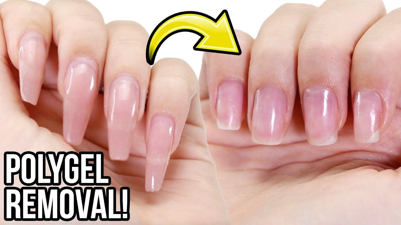 Remove Polygel Nails Step By Step How To Tutorial Youtube Polygel Nails Gel Nails At Home Gel Nails
