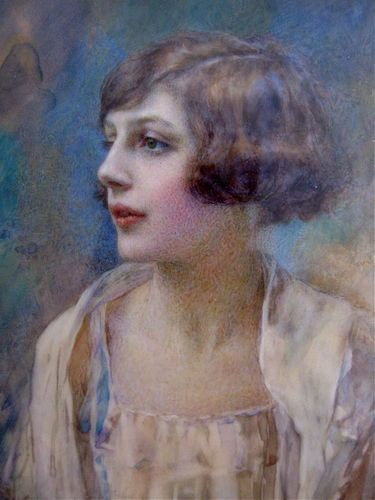 Exquisite 1920's/30's ART DECO Finely Painted Portrait Miniature ~ Ines Johnson | eBay
