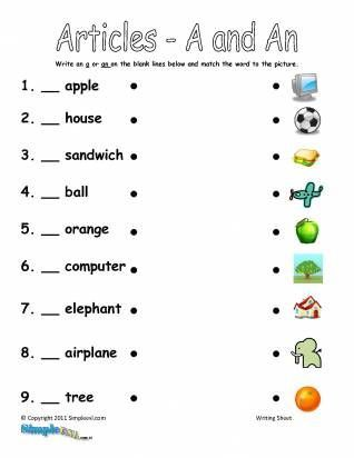 11 best articles a an the images on Pinterest | Classroom ...