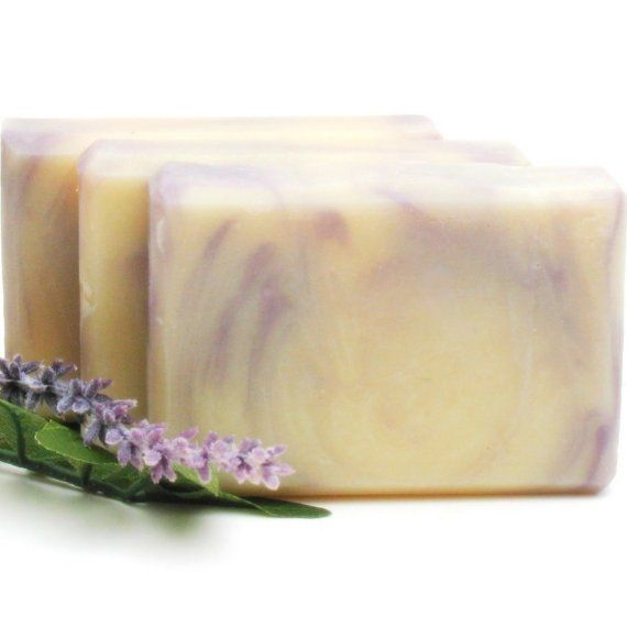 lilac handmade cold process olive oil shea and cocoa by simplysuds, $6.00