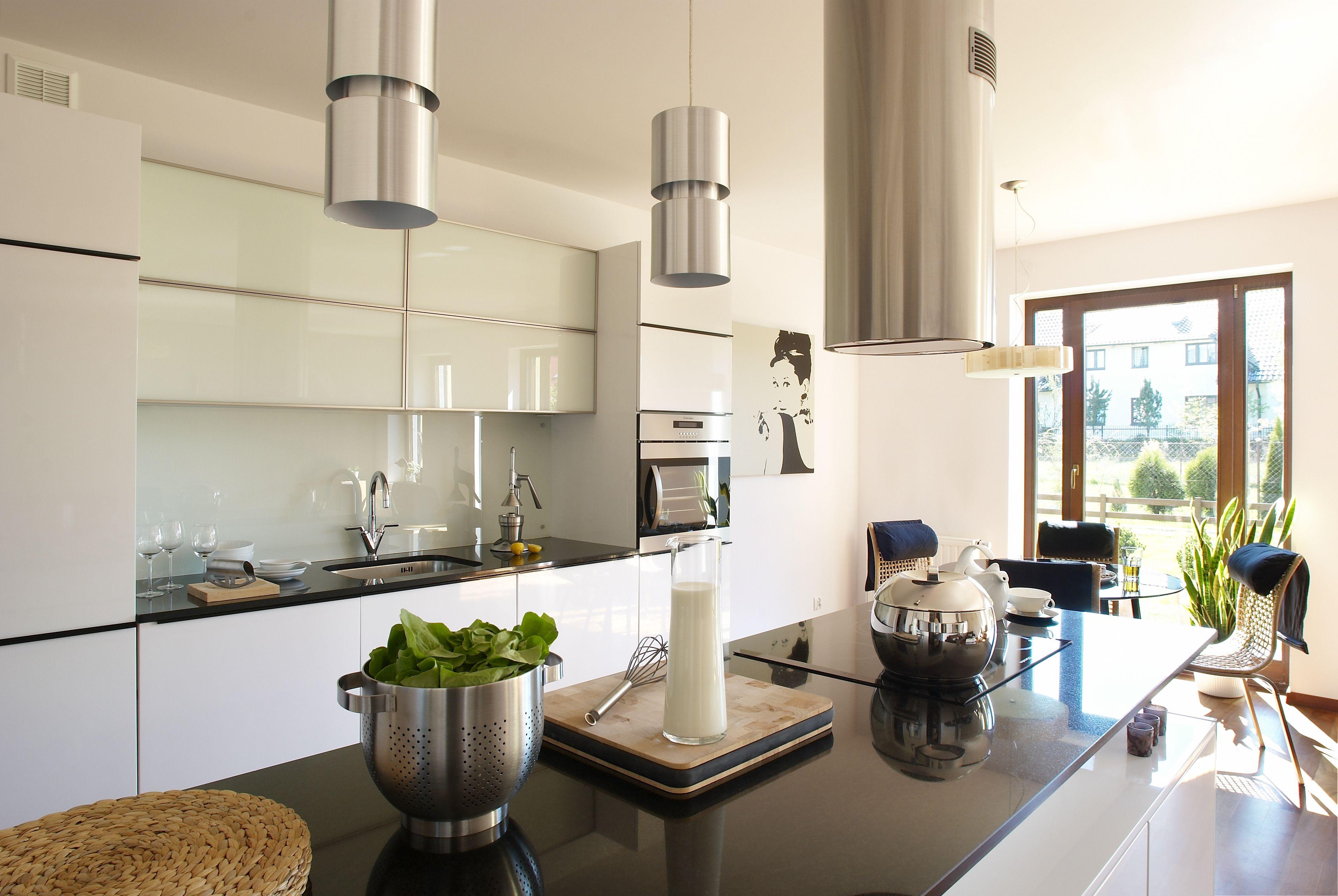 Szklo Na Scianie W Kuchni Galeria Pomyslow Co Na Sciane W Kuchni Zamiast Plytek Kitchen Dining Room Modern Kitchen Kitchen