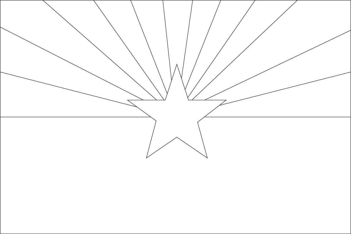Arizona Flag Coloring Pages Jpg 1wolf Achievement 2d Flag