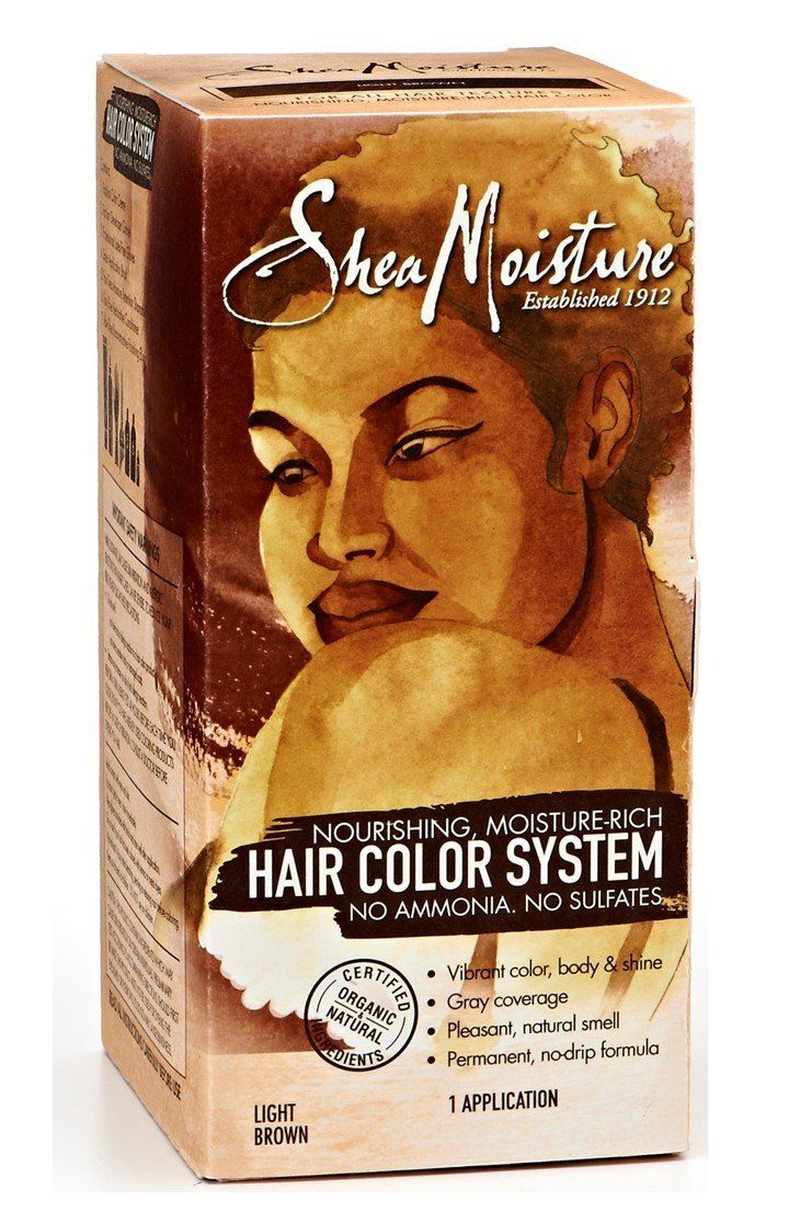 Shea Moisture Light Brown Hair Color System Sulfate Free Permanent