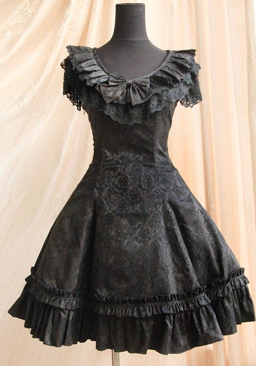 gothic dresses | Black Gothic Style Lolita One Piece Dress from ...