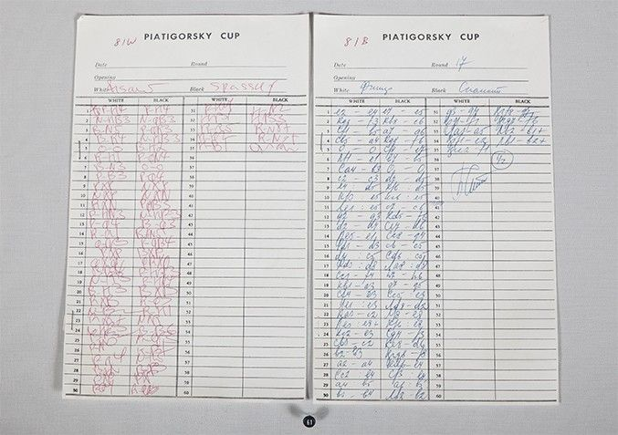 Fischer V Spassky Score Sheet From The Piatigorsky Cup  Chess  The