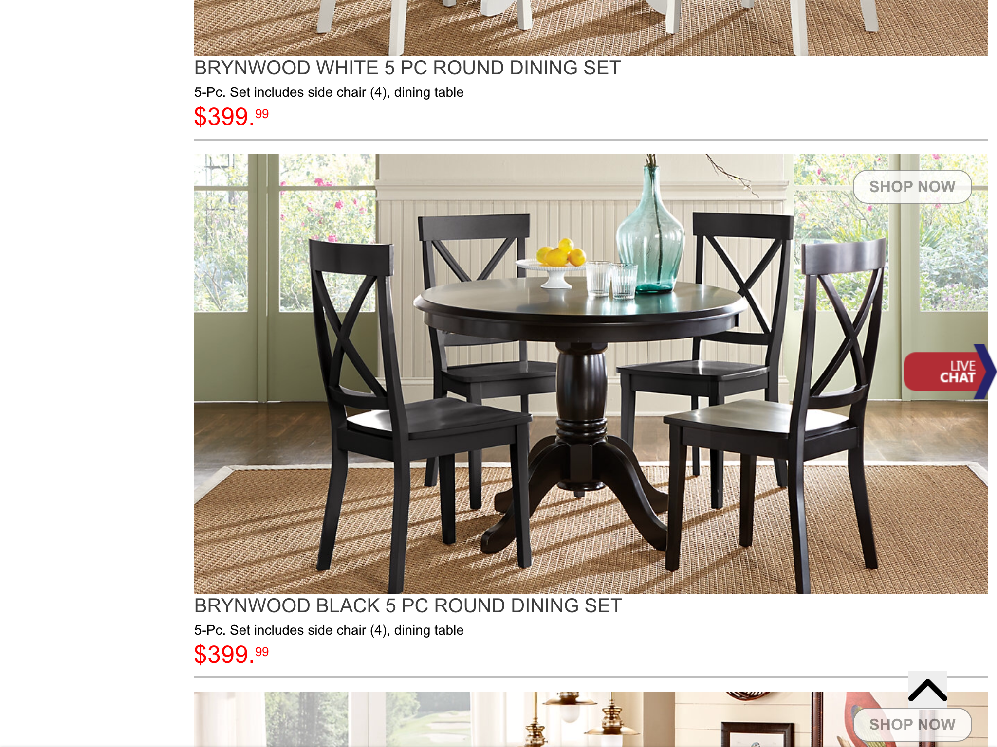 Brynwood white 5 pc round dining set dining room sets colors - Round Dining Tables Round Dining Table