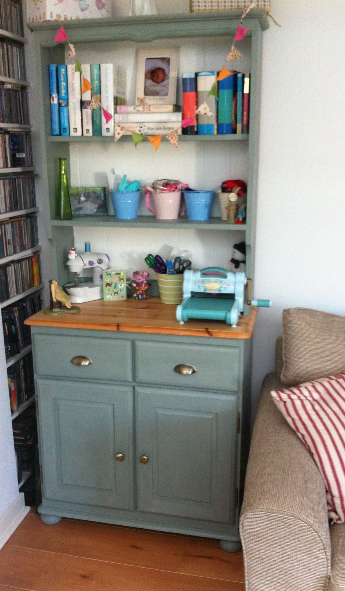 My Charity Shop Pine Dresser Painted With Annie Sloan Duck