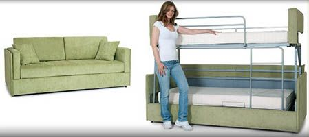 New Sofa Converts Into Bunk Beds In A Few Seconds Rv Travel This Would Be Awesome In Homes