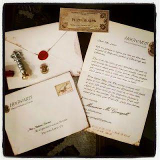Harry Potter Invitation Hogwarts Acceptance Letter And   Train