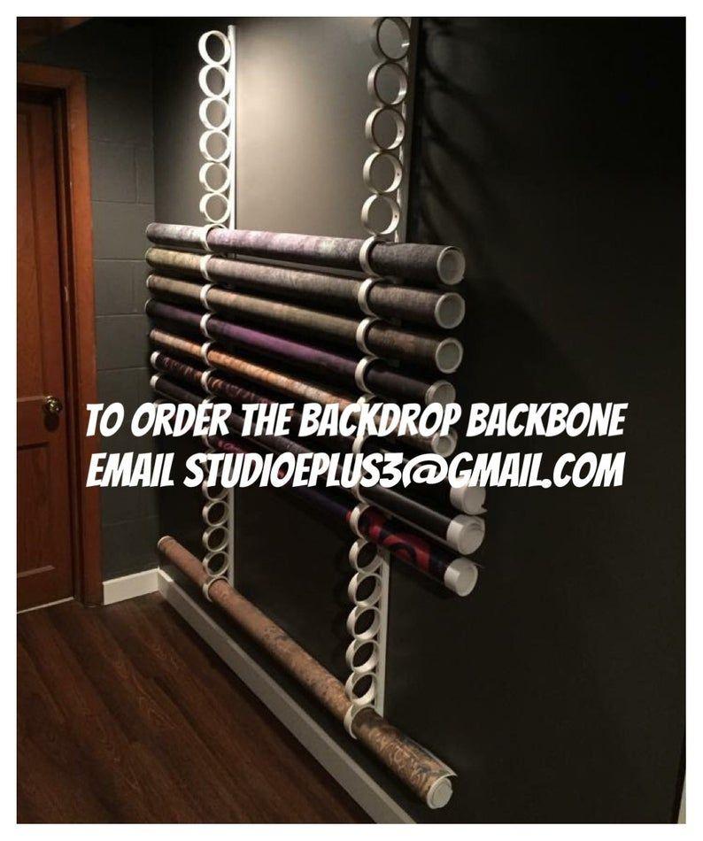 6' Backdrop Backbone  Wall Storage System | Etsy