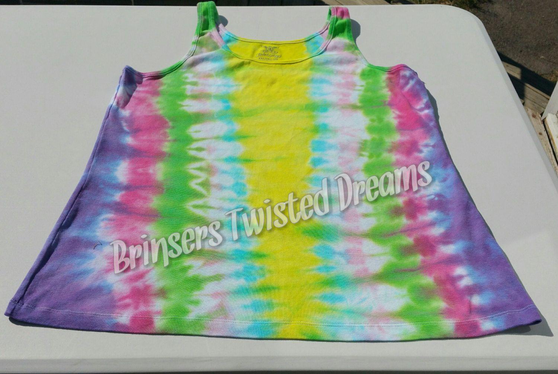 Tie Dye- Ladies Tank Top- Size 2XL- Sleep wear- Undershirt- Rainbow Christmas Gift- Cheap Christmas Gift- Sleeveless Tee-shirt by BrinserTwistedDreams on Etsy