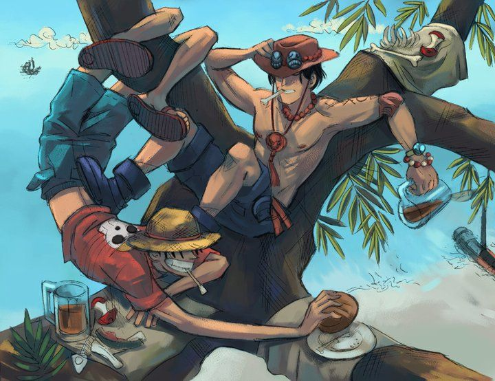 Portgas D. Ace & Monkey D. Luffy - One Piece,Anime | One ...