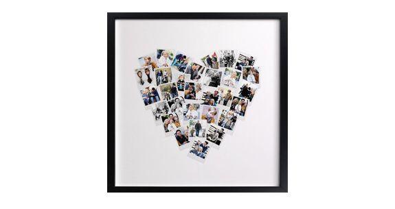 Quadro con selfie a forma di cuore, ottima idea regalo diy  #selfie #autoscatto #diy #regalo #regali #idea #cuore #amore #sanvalentino #innamorati