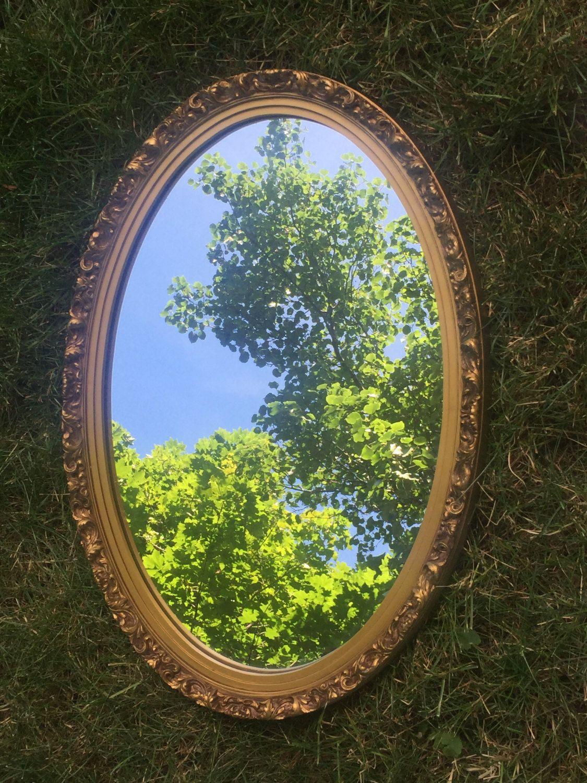 Beautiful oval mirrorbathroom mirror by vintagesowles on