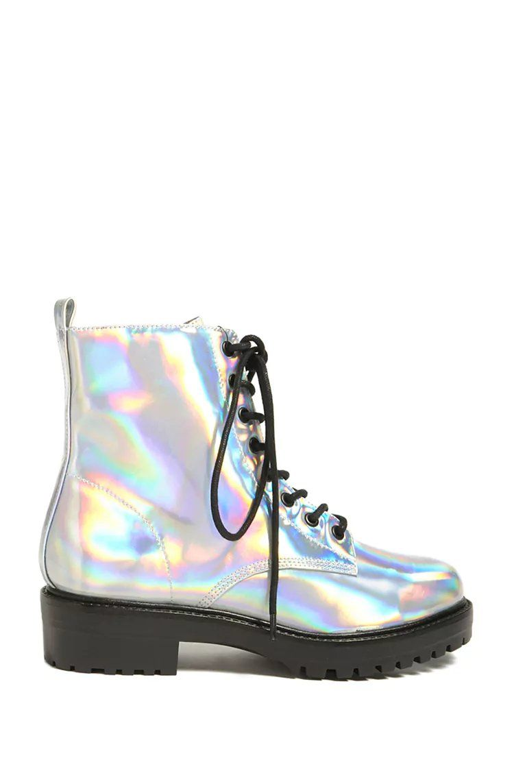 678450a6d Product Name Holographic Ankle Boots