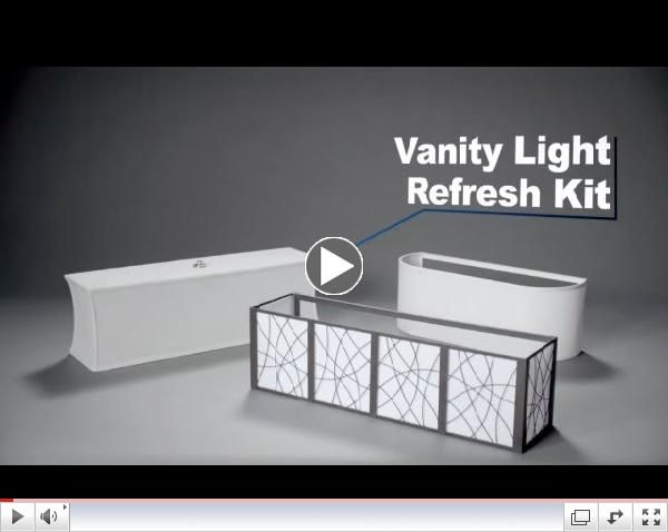 Vanity Light Update : Vanity Light Refresh Kit USD 38 lowes Apartments Pinterest Plates, Vanities and Bathroom ...
