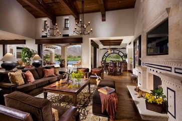 Mediterranean Living Room Design Ideas, Pictures, Remodel And Decor