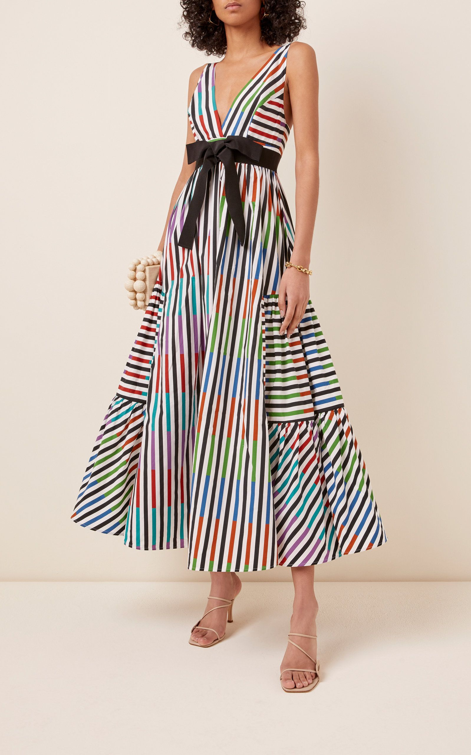 Catalina Del Mar Striped Cotton Maxi Dress By Silvia Tcherassi Moda Operandi Maxi Dress Cotton Maxi Dress Striped Maxi Dresses [ 2560 x 1598 Pixel ]