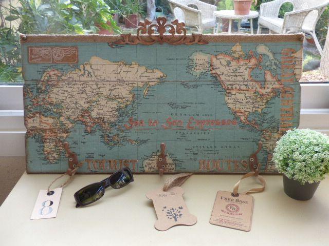 Pin de momentos vintage en trabajos manualidades y bricolaje pintura en madera tela de mapa y - Manualidades y bricolaje ...