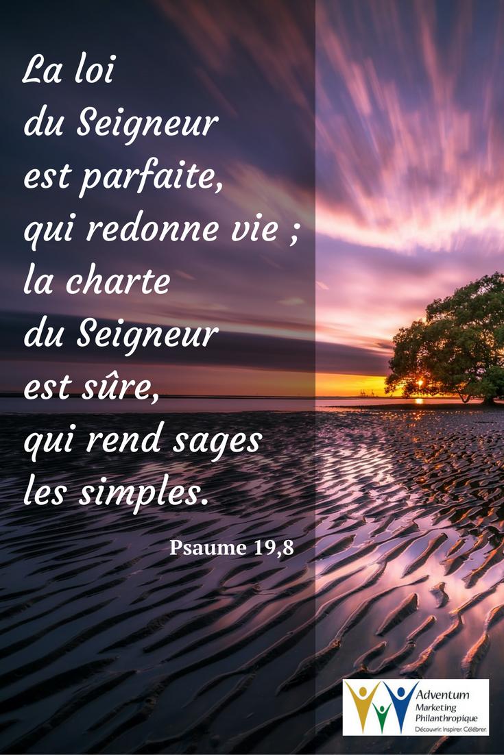 30 novembre 2016 – Psaume 19,8 | Texte biblique, Psaumes, Biblique