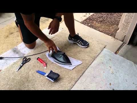 Patch Hole In Carpet Diy 3 Minutes Home Depot Materials Youtube Diy Carpet Carpet Repair How To Patch Carpet
