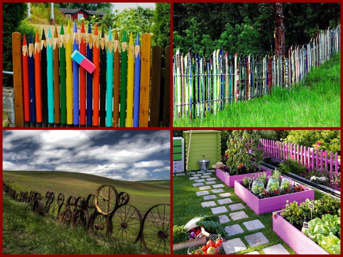 20 Cheap and Creative Fence Ideas! https://youtu.be/aqp6BrPovYk ...