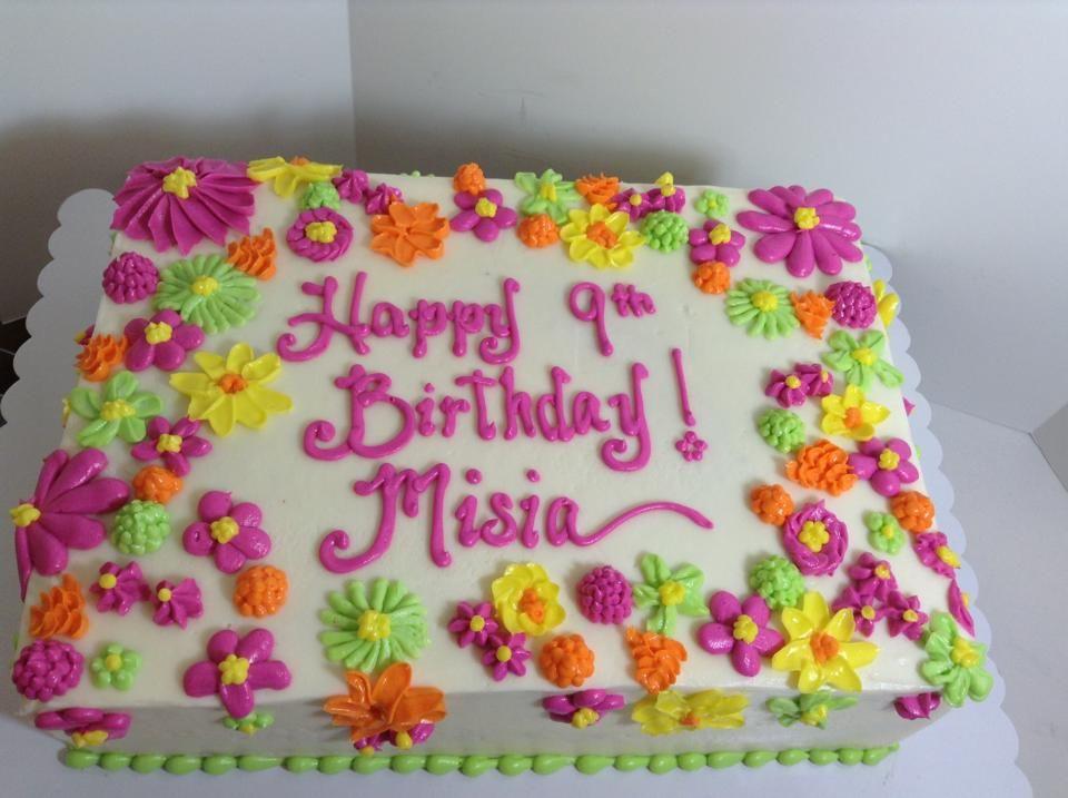 Colorful flower theme birthday cake Sugarnomics Cake Studio Guam