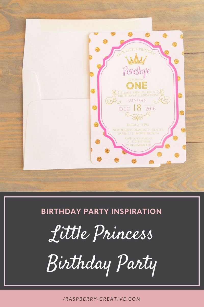 Looking for inspiration for your daughter's pink and gold birthday party?  We are featuring our little princess birthday party invitation for Penelope along with some inspiration to compliment the design.