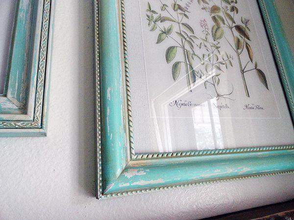 Walmart frames and Martha Stewart craft paint and glaze...great ...